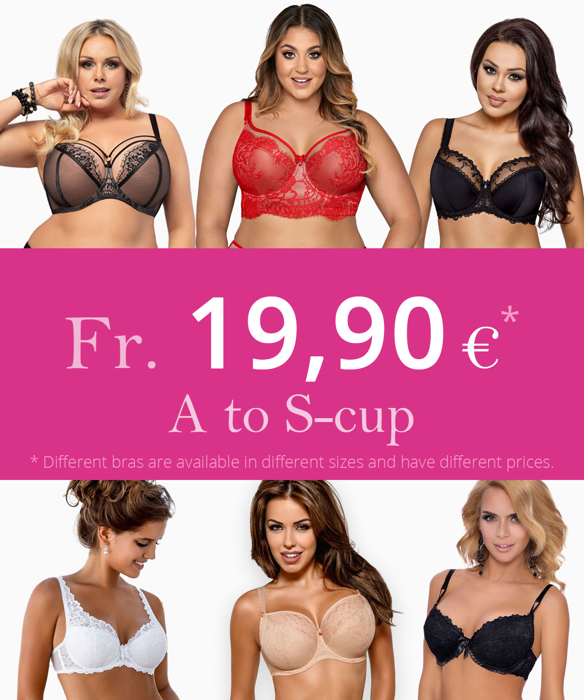 Beautiful, comfortable bras from $21.89 - A to S-cup