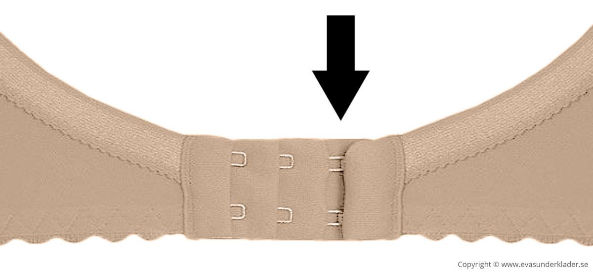 A new bra should preferably fit on the outermost hooks.