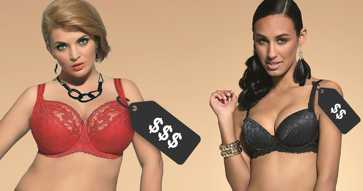 Why are bras in larger sizes so expensive?