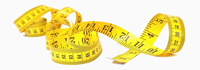 Use a tape measure to measure yourself. Make sure that you are using the correct scale, inches, or centimeters.
