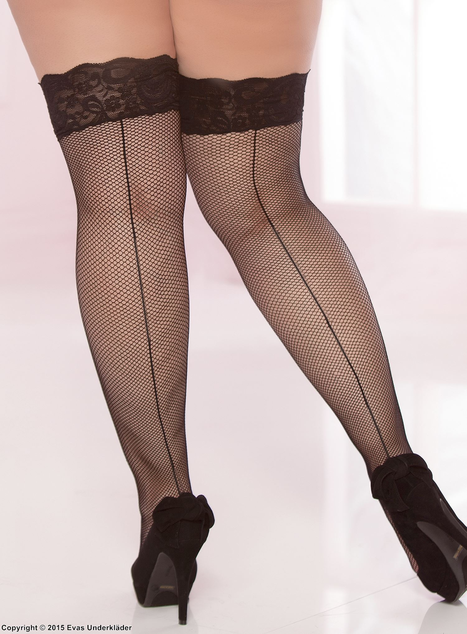 Plus Size Womens Plus Size Lace Top Backseam Thigh High Plus Size Thigh High