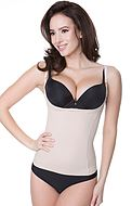 Shapewear camisole, without cups, waist and belly control