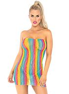 Tube dress, lace, rainbow color